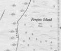 Pergins Island, west, 1953 map