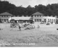 Beach cafe and sands, Branksome Chine