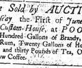 Auction, 1749