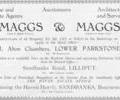 Advert for Maggs & Maggs.