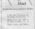 Advert for Canford Cliffs Hotel.