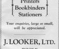 Advert for J.Looker.