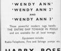 Advert for Harry Rose. Motor Towage.