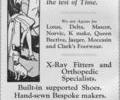 Advert For J.A Hawkes & Son Ltd. Shoeshop.