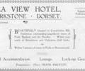 Advert for Seaview Hotel.