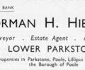 Advert for Norman H. Hibbs, F.S.I
