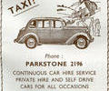 Advert For Gardners Taxi.