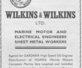 Advert for Wilkins & Wilkins Ltd Engineers.