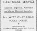 Advert for Auto and Marine Electrical Service.