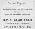 Advert for  E. Gillam Marine Engineer.