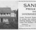 Advert for Sandhills Private Hotel.