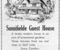 Advert for Sunnifielde Guest House.
