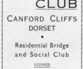 Advert For Fitz's Club.