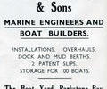 Avert for Frederick C.  Mitchell & Sons Boat Builders.
