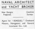 Advert for Eric H. French Boat Builder.