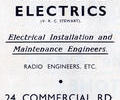 Advert for Parkstone Electrics.