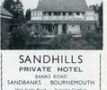 Advert for Sandhills Hotel.