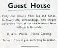 Advert For Summerhill Guest House.