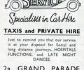 Advert for Taxicar Service