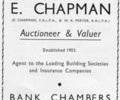 Advert for E. Chapmann Autioneer