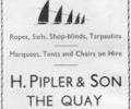 Advert For Pipler & Son.