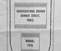Skinner Street Congregational Church Manual - 1910