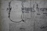 Elizabeth I detail on Charter of Elizabeth I 1568.jpg