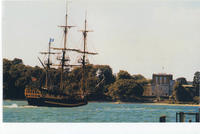 Modern Tall Ship and Brownsea Castle.jpg